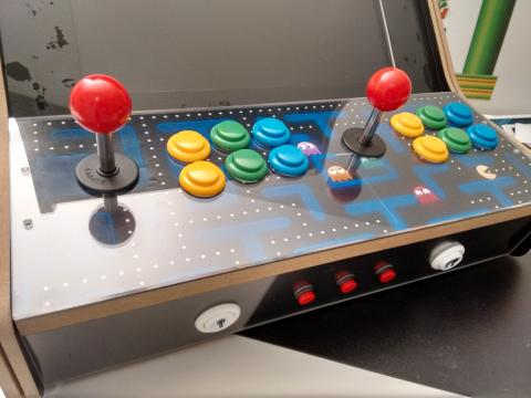 bartop arcade raspberry artes vinilos CPO